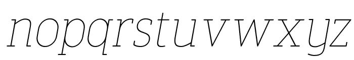 FinalistRoundSlab-35ThinItalic Font LOWERCASE