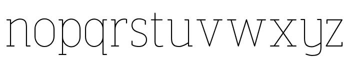 FinalistRoundSlab-35Thin Font LOWERCASE