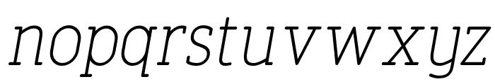 FinalistRoundSlab-45LightItalic Font LOWERCASE