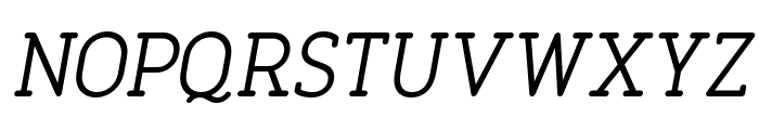 FinalistRoundSlab-55RegularItalic Font UPPERCASE