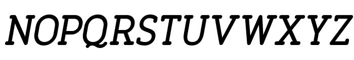 FinalistRoundSlab-65MediumItalic Font UPPERCASE