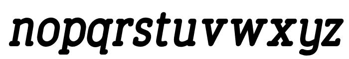 FinalistRoundSlab-75BoldItalic Font LOWERCASE