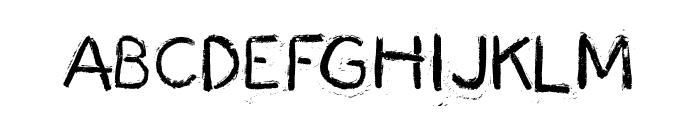 Fingermade Font UPPERCASE