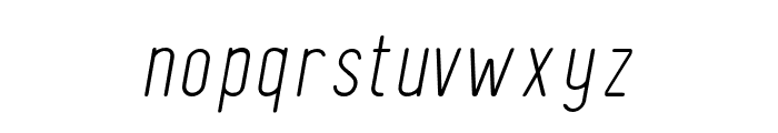 FinlandRounded-ThinItalic Font LOWERCASE