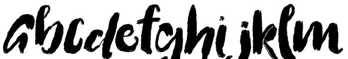 Flattering Font UPPERCASE