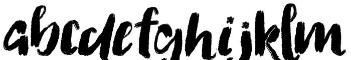 Flattering Font LOWERCASE