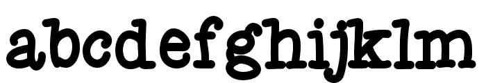 Fletcher Bold Font LOWERCASE