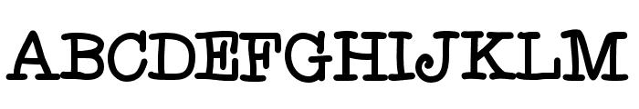 Fletcher-Regular Font UPPERCASE