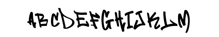 Flim Flom Graffiti Font UPPERCASE
