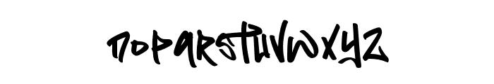 Flim Flom Graffiti Font LOWERCASE