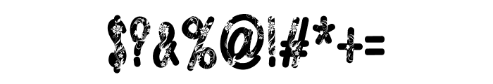 Floral Design Font OTHER CHARS