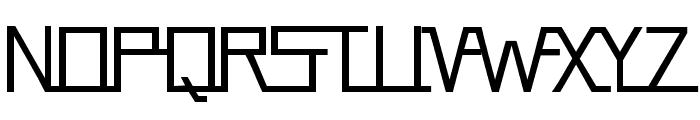 Flying Landing Font UPPERCASE