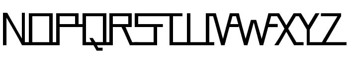 FlyingLanding Font UPPERCASE