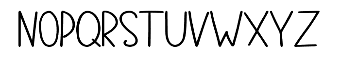 FontFirst Bold Font UPPERCASE