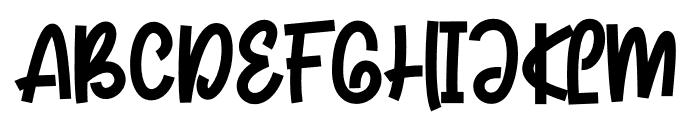 Foodpacker Font UPPERCASE
