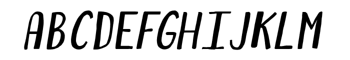 ForestPuyehueItalic Font LOWERCASE