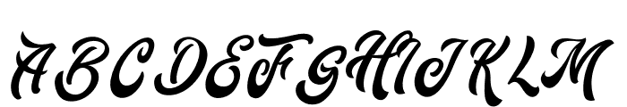 Fountain-Regular Font UPPERCASE