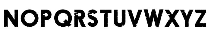 Fragile Font UPPERCASE