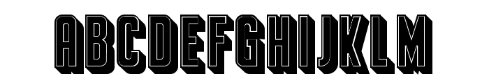 Franchise Filled Regular Font LOWERCASE