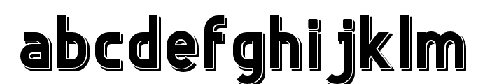 Freedom-Shadow Font LOWERCASE