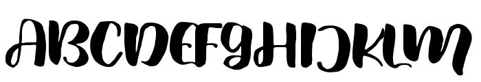 FreshHansler Font UPPERCASE