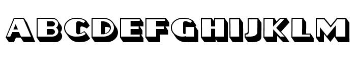 Frozen Hollow Regular Font LOWERCASE