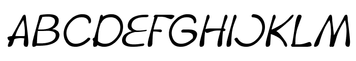 Fruit Vegetable Italic Font UPPERCASE