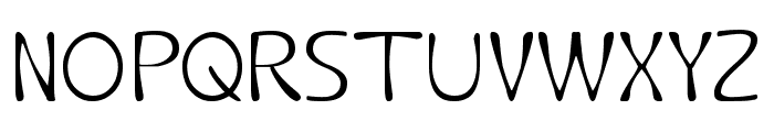 Fruit Vegetable-Light Font UPPERCASE