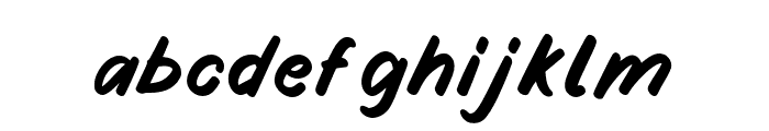 Fruity Stories Font LOWERCASE