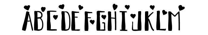 Full Of Heartz Regular Font UPPERCASE