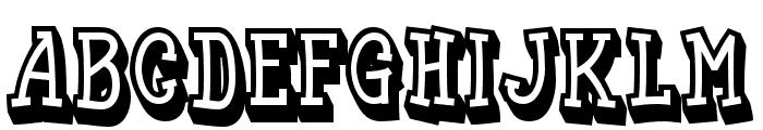 Funyard-Shadow Font UPPERCASE