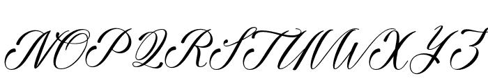 GalishaScript Font UPPERCASE