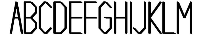 Gallery regular Font UPPERCASE