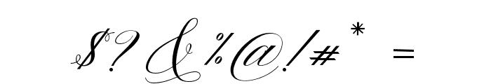Gallisia Script Font OTHER CHARS