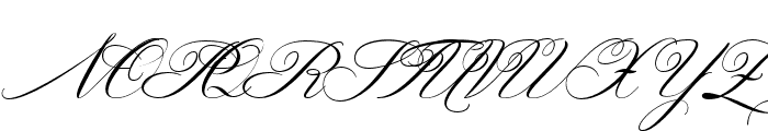 Gallisia Script Font UPPERCASE