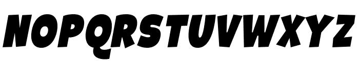 Galpon Black Italic Font UPPERCASE