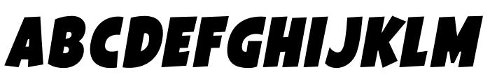 Galpon Black Italic Font LOWERCASE