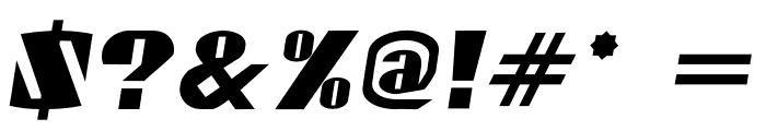 Gaspardo Oblique Font OTHER CHARS