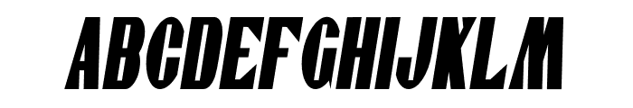 Gaspardo Super Condensed Oblique Font UPPERCASE