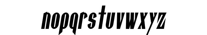 Gaspardo Super Condensed Oblique Font LOWERCASE