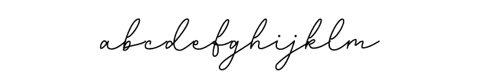 Gatkins Font LOWERCASE