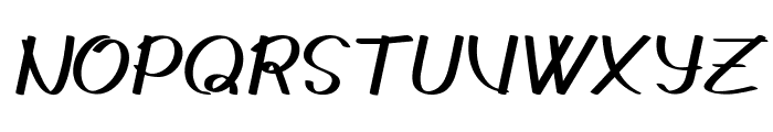Gedrick Italic Font UPPERCASE