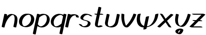 Gedrick Italic Font LOWERCASE