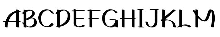 Gedrick Font UPPERCASE