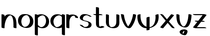Gedrick Font LOWERCASE