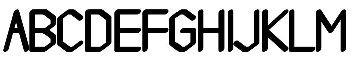 Gelimer regular Font UPPERCASE