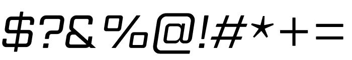 Gemini Cluster Italic Regular Font OTHER CHARS
