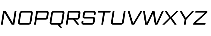 Gemini Cluster Italic Regular Font UPPERCASE