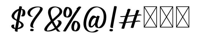 Generation Ligature Font OTHER CHARS