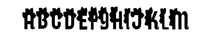 Genres Font UPPERCASE